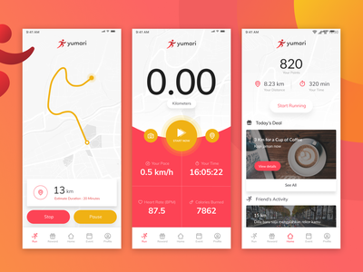 Sport Tracking App Exploration android app design android app design ux ui mobile