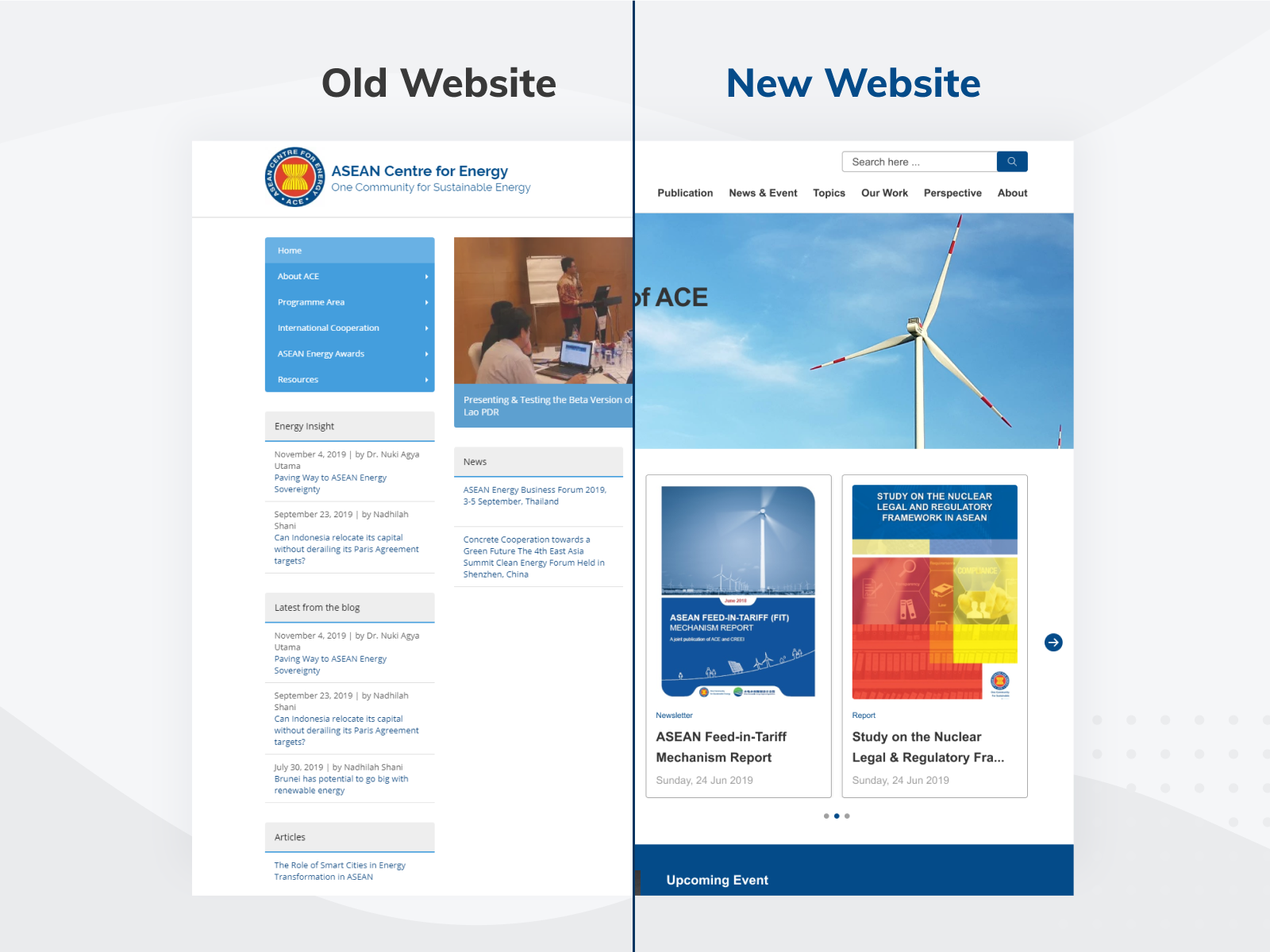 Asean Centre For Energy Website Revamp By Giza Design Lab On Dribbble