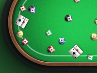 Poker Game - poker chips and cards on table detail (wip)