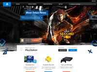 New playstation homepage