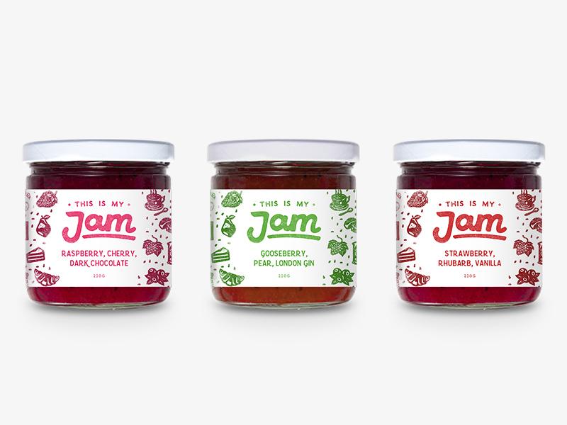 This Is My Jam Packaging Mockup lid glass preserve food branding sticker label jars packaging jam