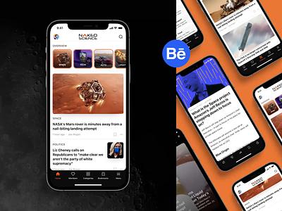 Skyur.app: Behance case presentation articles case study skyur.app news app ios news portfolio nocode categories stories open articles behance news usa today ny times