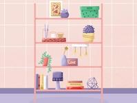 Flat book shelf