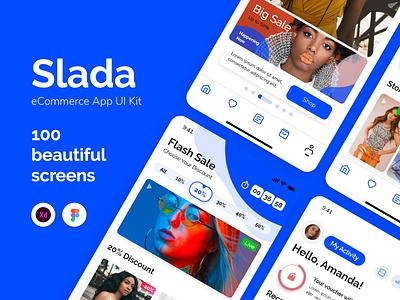 Slada — eCommerce App UI Kit slada android iphone beautiful clean store shopping shop ecommerce design ecommerce shop ecommerce app ecommerce ui template ui kit app ui design ui