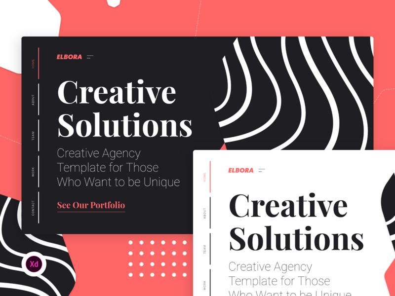 Elbora — Simple Agency Portfolio clean ui template app design template modern creative agency portfolio app ui design ui