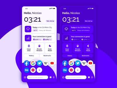 Loro — Mobile Browser Home Screen Concept mobile browser concept ui design xd app ui