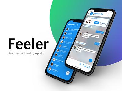 Feeler — Augmented Reality App UI augmented reality ar icon app ux ui