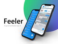 Feeler — Augmented Reality App UI
