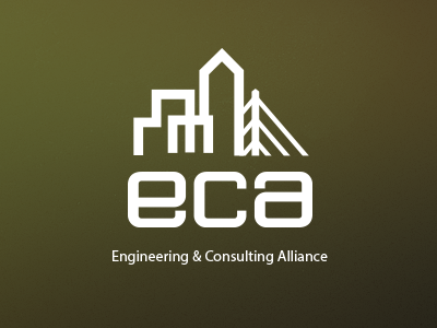 Logo engineering logo buildings bridge