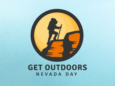 Get Outdoors Nevada Day Logo logo outside outdoor red rock hiking nevada