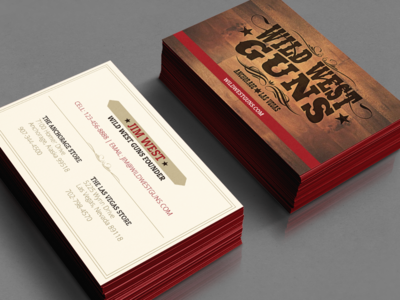 Wild West Guns Business Cards western wild west guns business cards