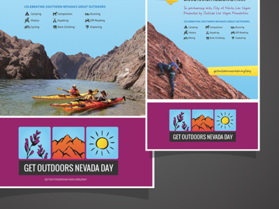 Get Outdoors Nevada Day Campaign print get outdoors nevada las vegas
