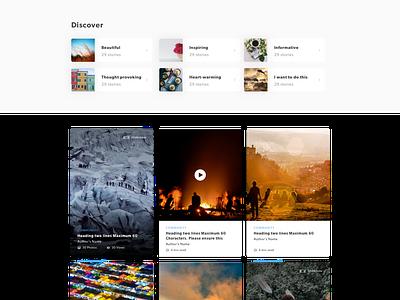 Roundglass- Discover More magazine ui design