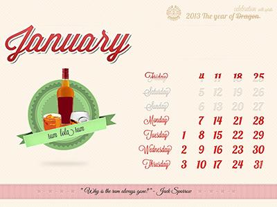 January Dribble Shot 1 calendar january mayan illustration spirits quarters seansons
