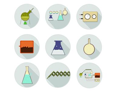 Chemistry Lab-  Flat Illustration Practice