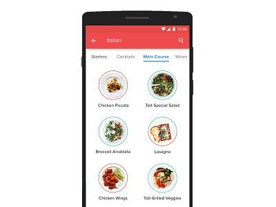 Main Course Menu app mybutler menu wip restaurant