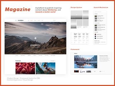 Magazine-Closed Content Platform framework design product platform content magazine