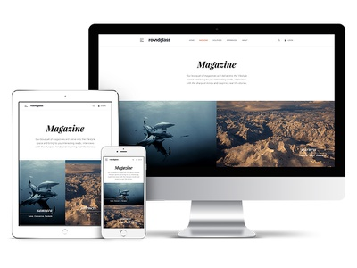 Magazine bootstrap content design product responsive visual cms magazine