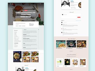 Recipe Page responsive modular web design page recipe ui