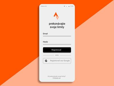 Strava Sign-up / Registration screen registration signup app design app strava