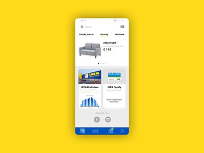 IKEA Store app homescreen redesign app design ikea goodui goodux uxdesign uxredesign