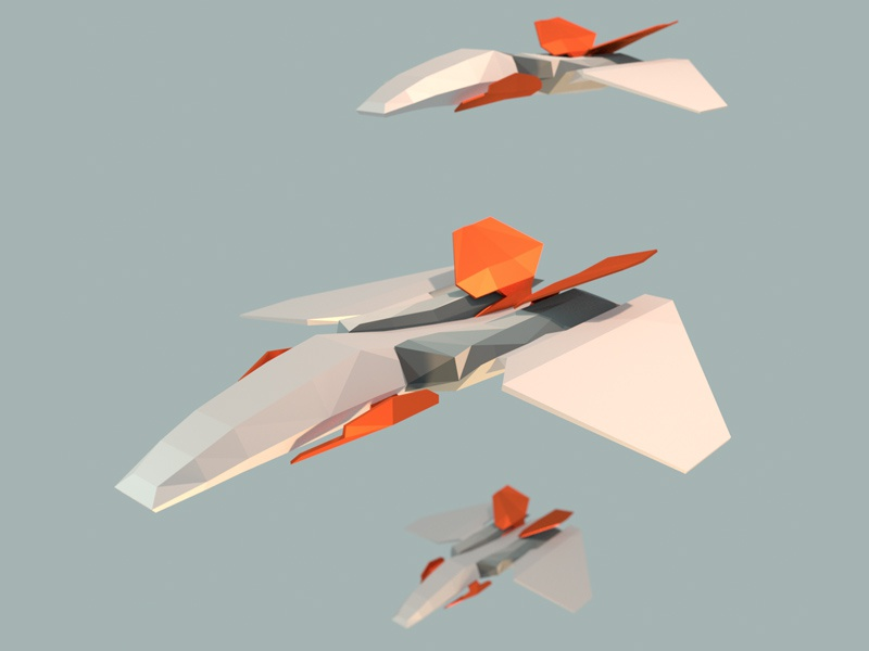 Low Poly Fighter 3d blender low poly