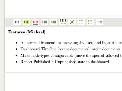 Rich Text Editor Icons