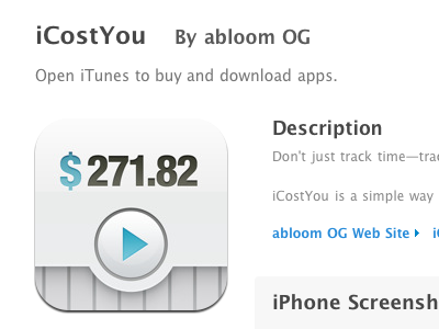 iCostYou in the App Store