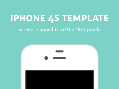 iPhone 4S Template template iphone 4s
