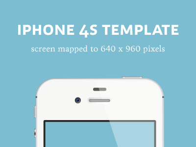 iPhone 4S Detailed Template iphone 4s template