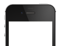 Iphone4s black template detailed