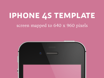 iPhone 4S (black) Detailed Template template iphone 4s iphone