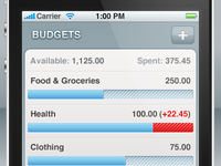 Personal Expenses iPhone App Concept
