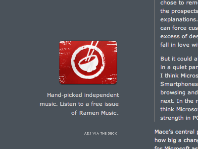 Ramen Ad ramen music music badge ad