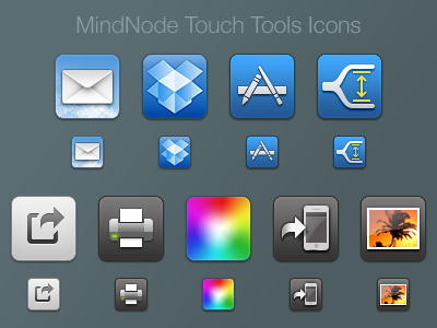 Mindnode Touch Tools Icons icon icons ios