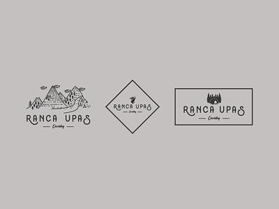 Logo Type - Ranca Upas lettering illustrator typography type illustration minimal flat vector design logo