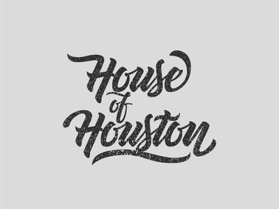 House of Houston design illustrator logo lettering type illustration vector typography
