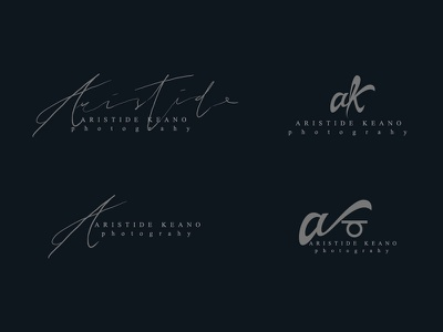 Aristide Keano - Logo lettering illustrator typography type vector logo