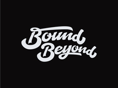 Handlettering - Bound Beyond identity clean brand branding minimal illustration illustrator flat logo design lettering vector typography type
