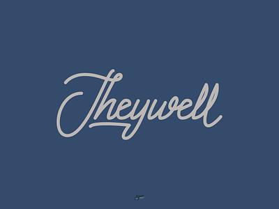 Theywell branding illustrator vector logo lettering design typography type