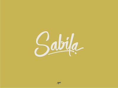 Sabila brand illustration illustrator logo minimal vector lettering typography type