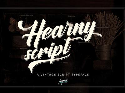 Hearny script A Vintage Font