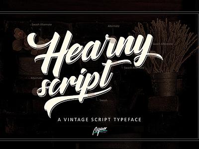 Hearny script A Vintage Font script lettering vintage font font family font design ux ui identity icon flat logo vector branding illustration lettering typography type