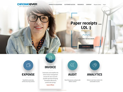 Paper receipts... lol invoice expense river redesign product business website