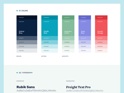 Styleguide product app ui styleguide typography palette colors
