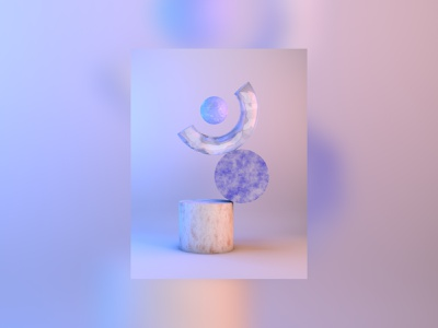 RAISE YOUR HANDS character pink blue design c4dfordesigners abstract light pastel render 3d c4d
