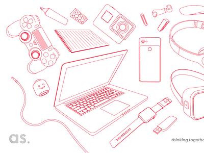 Designer's tools – part 1 web vector ux design ux ui design ui sketch minimal innovation illustration graphic freelance designer freelance flat designer tools designer design composition color bordeaux
