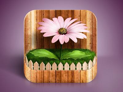 Flower iOS Icon flower garden wood fence plant ios icon
