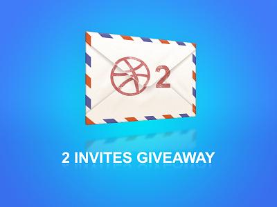 2 Dribbble Invites Giveaway dribbble invite invitation draft giveaway