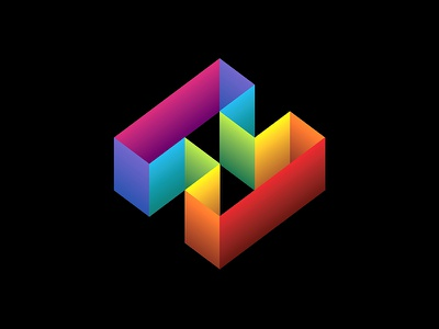 H Logo Re-colored h letter logo rainbow